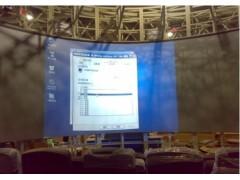 全息膜、双面成像玻璃贴膜幕、橱窗背投幕、全息投影幕