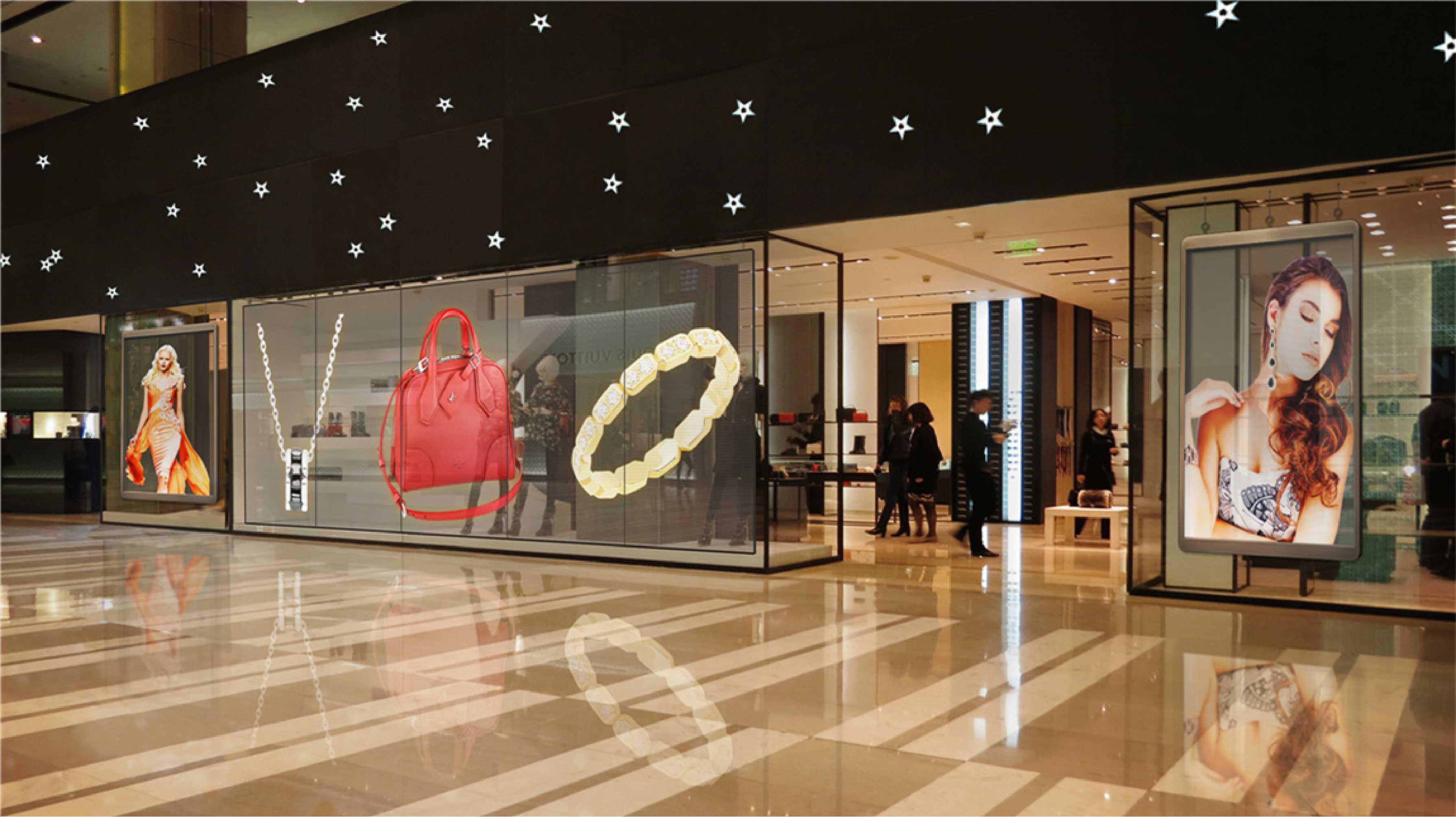 全息玻璃展柜 玻璃展示 互动橱窗