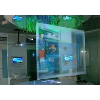 全息透明膜乳白色背投膜投影幕布 透明正投膜