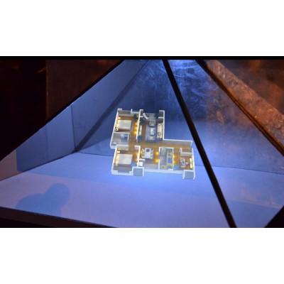 深圳360度全息柜-金字塔展示柜--裸眼3d全息金字塔