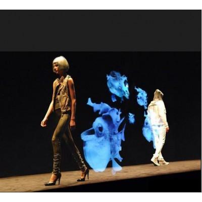 全息3d投影幕布-全息膜背投幕橱窗广告幕投影膜