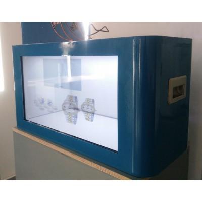 全息3D展示柜_全息投影展示柜_透明液晶屏展示柜