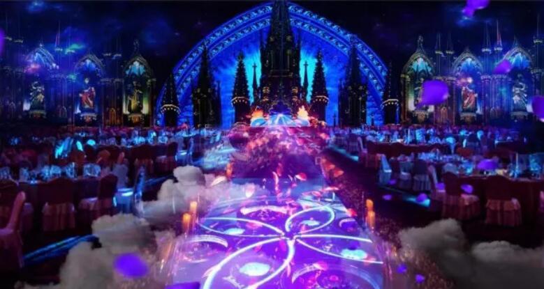 全息投影 3D全息宴会厅 3D宴会厅 3D全息婚宴 沉浸式