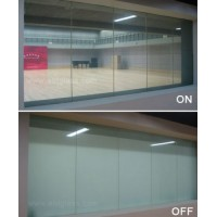 智能调光玻璃-电控膜调光膜-通电玻璃