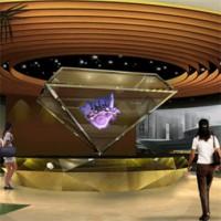 广州360全息展柜专用全息投影膜,全息投影幕