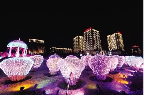 灯光雕塑小品城市景区灯光雕塑设计意义和分类
