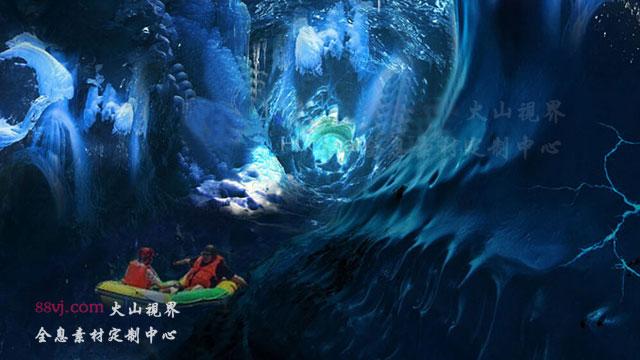 冰与火的空间漂流,4D立体沉浸式全息投影