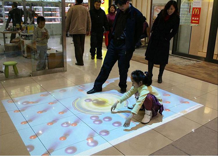 青岛投影大屏融合全息地面墙面投影互动游戏沉浸式投影