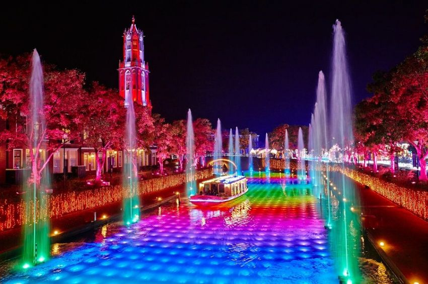 园林景观灯光雕塑设计园林灯光照明规划雕塑灯光设计