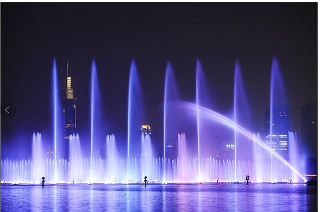 景区创意灯光水秀方案、灯光水秀制作厂家