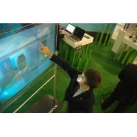韩国投影幕 全息膜 透明膜 背投幕 橱窗广告幕 全息投影膜