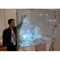 互动橱窗专用全息投影膜,全息正投玻璃