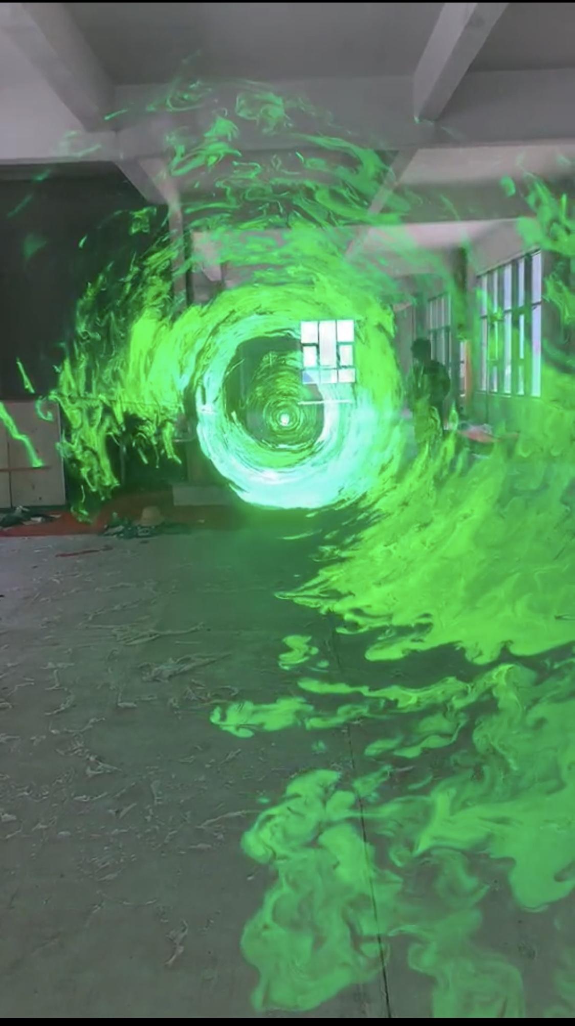 科技感十足超炫酷的全息时空隧道