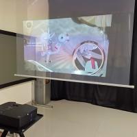 时代中视供应玻璃贴膜 3d互动全息膜 玻璃 背投透明幕 厨窗投影膜